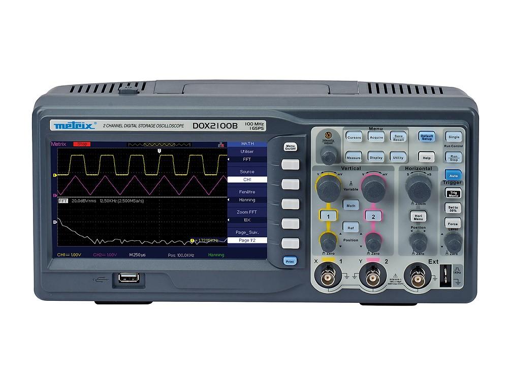 DOX2100B 2-channel 100 MHz benchtop digital oscilloscope
